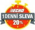 1-DENNÍ SLEVA 20 % na zahradní techniku ECHO